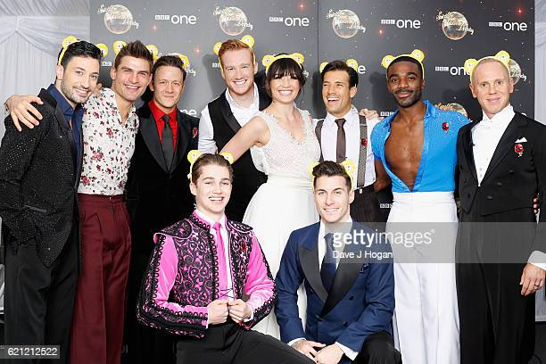 The cast of Strictly Come Dancing show their support for BBC Children in Need at Elstree Studios on November 5 2016 in Borehamwood England