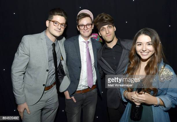 The cast of Sugar Pine 7 at the 2017 Streamy Awards at The Beverly Hilton Hotel on September 26 2017 in Beverly Hills California