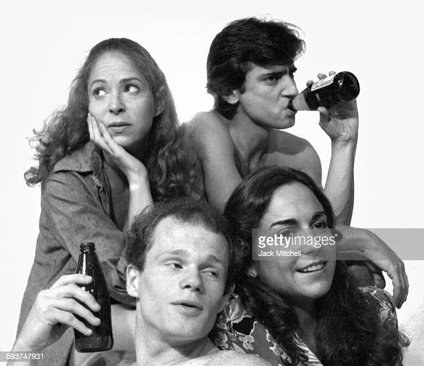 The cast of Ted Tally's play 'Hooters' photographed in October 1982