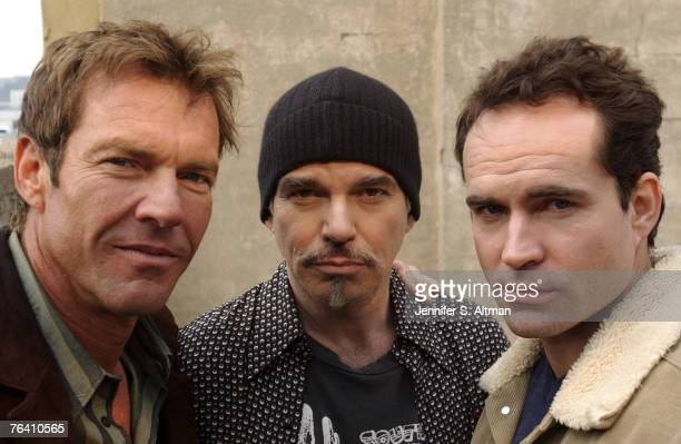 Dennis Quaid Billy Bob Thornton Jason Patric are photographed for the Los Angeles Times on October 29 2003 in New York City