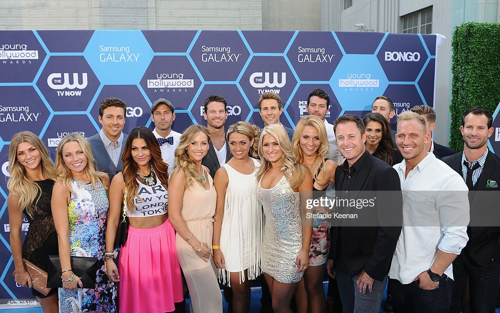 The cast of the Bachelor and the Bachelorette attend the 2014 Young Hollywood Awards brought to you by Samsung Galaxy at The Wiltern on July 27, 2014 in Los Angeles, California.