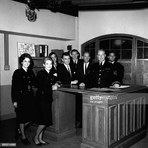 The cast of the BBC series 'Dixon of Dock Green' Jean Dallas Anne Carroll Joe Dunlop Peter Byrne Nicholas Donnelly Geoffery Adams Jack Warner and...