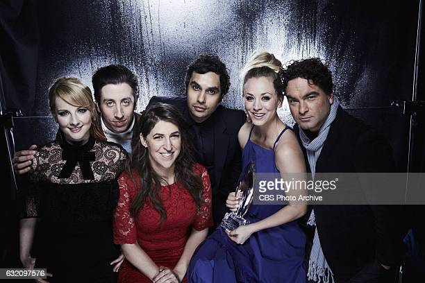 The Cast of The Big Bang Theory visit with the CBS Photo Booth during the PEOPLE'S CHOICE AWARDS the only major awards show where fans determine the...