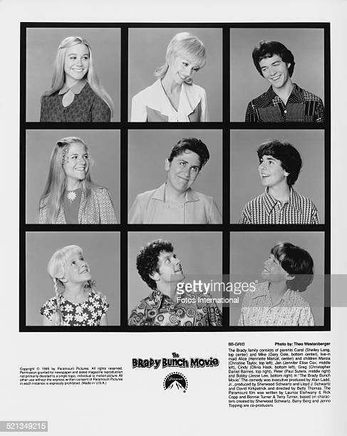 The cast of 'The Brady Bunch Movie' directed by Betty Thomas 1995 The film is based on the earlier American TV series 'The Brady Bunch' Top row...