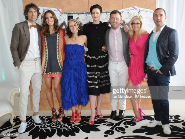 The cast of the Clothes Show George Lamb Louise Roe Caryn Franklin Erin O'Connor Brendan Courtney Nicky HambletonJone and Nick Ede attending the...