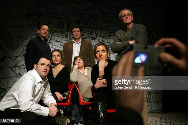 The cast of the Dublin Premiere of 'Heroes with their hands in the Air' a play by Fintan Brady edited and introduced by Eamon McCann Based on the...