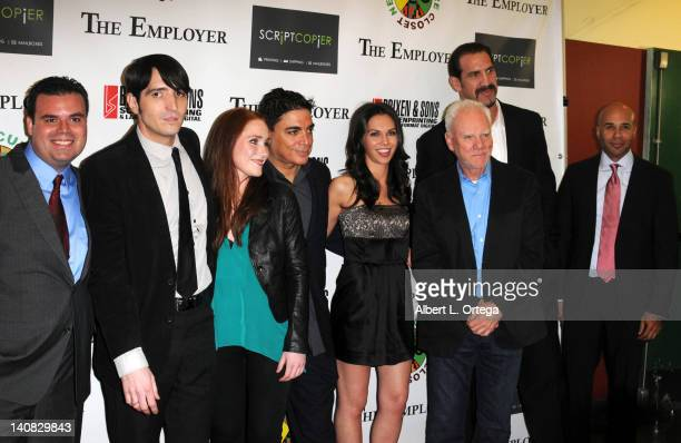 The cast of 'The Emplyer' arrives for 'The Employer' Los Angeles Screening held at Regent Showcase Theatre on March 6 2012 in West Hollywood...