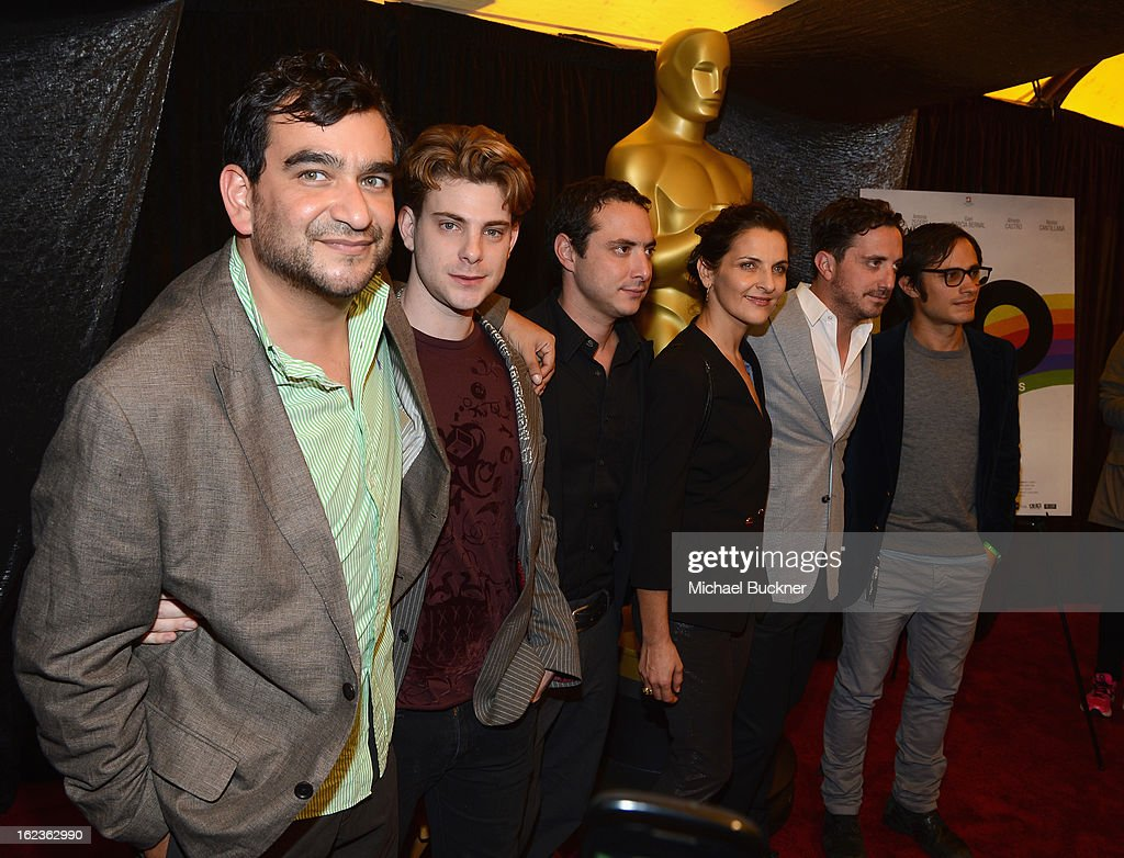 The Cast of the film 'No,' nominees for the Foreign Language Film Award, poses for photographers at the Foreign Language Film Award Photo-Op for the 85th Annual Academy Awards at Hollywood & Highland Center on February 22, 2013 in Hollywood, California.