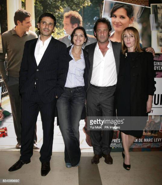 The cast of the film Pascal Elbe Virginie Ledoyen Vincent Lindon and Mar Sodupe arrive for the gala premiere of French film 'Mes Amis Mes Amours' at...