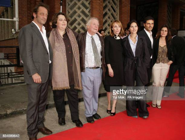 The cast of the film Vincent Lindon director Lorraine Levy Richard Syms Mar Sodupe Virginie Ledoyen Pascal Elbe and his wife Beatrice arrive for the...