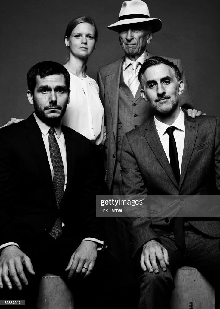 The cast of the film 'Voyeur' Myles Kane, Josh Koury, and Gay Talese poses for a portrait at the 55th New York Film Festival on October 5, 2017.