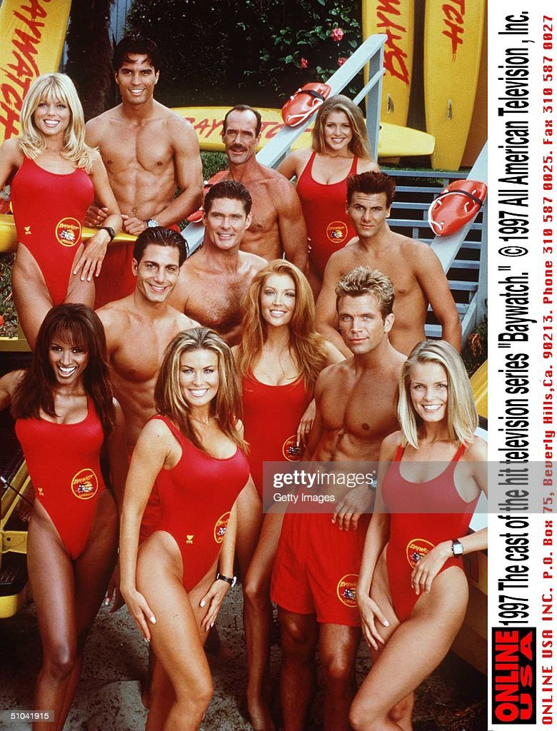 The Cast Of The Hit Television Series 'Baywatch'