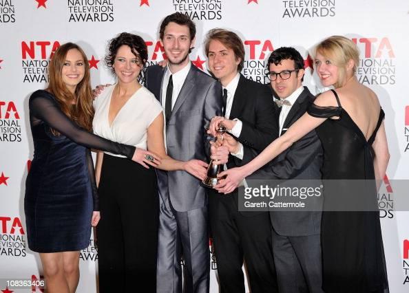 The cast of The Inbetweeners Actors Hannah Tointon Belinda StewartWilson Blake Harrison James Buckley Simon Bird and Emily Head with their Digital...