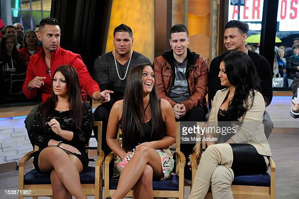 AMERICA The cast of the 'Jersey Shore' appears on 'Good Morning America' 10/10/12 airing on the ABC Television Network MIKE 'THE SITUATION'...