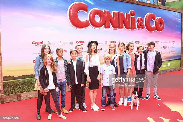 The cast of the movie ConniCo Emma Schweiger attend ConniCo World Premiere at Cinestar Potsdamer Platz on August 13 2016 in Berlin Germany