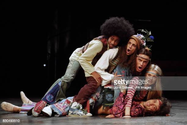 The cast of the musical 'Hair' got to know each other during rehearsal's at the Old Vic in London Paul Medford Unknown John Barrowman Andree Bernard...