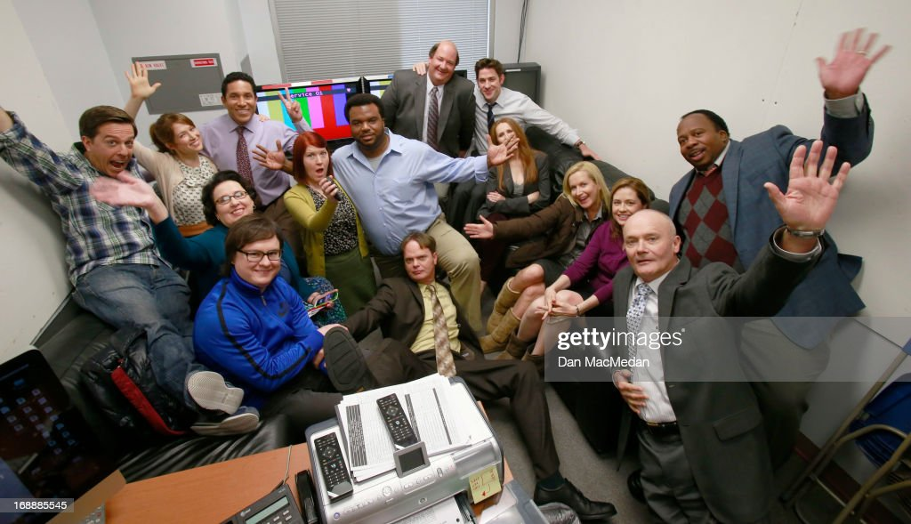The cast of 'The Office' are photographed for USA Today on the set of 'The Office' on February 5, 2013 in Van Nuys, California.