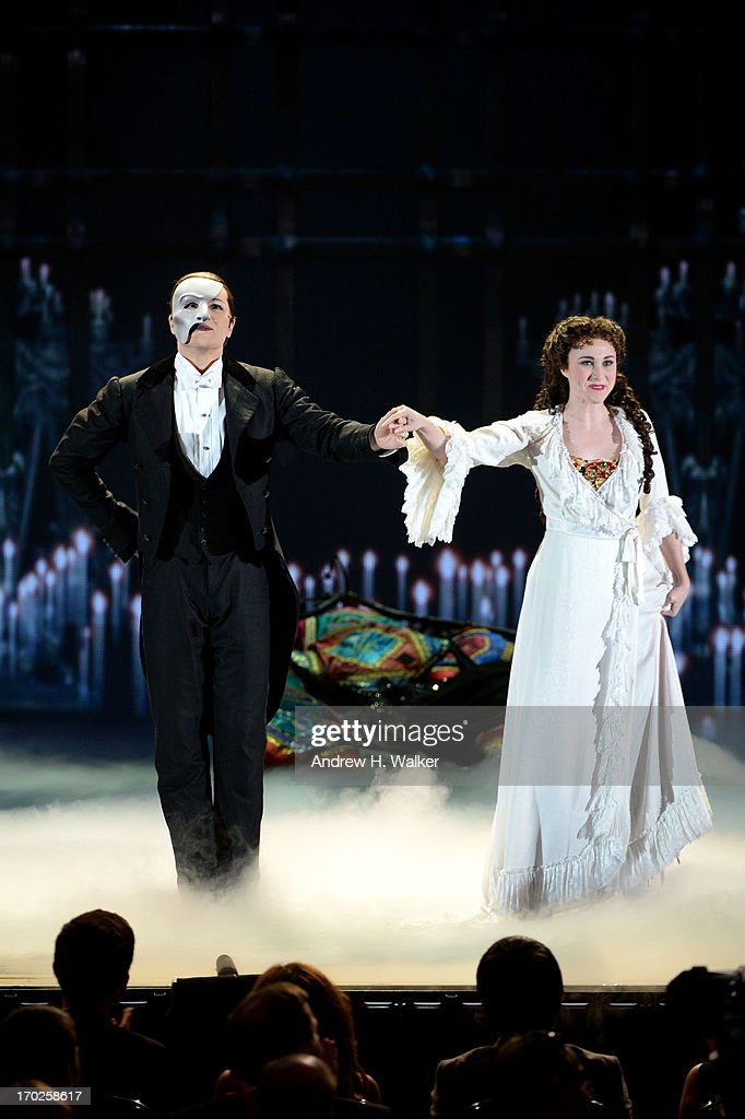 The cast of 'The Phantom Of The Opera' performs onstage at The 67th Annual Tony Awards at Radio City Music Hall on June 9, 2013 in New York City.