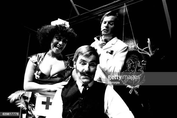 The cast of the play Nightmare Rock at Newcastle Playhouse 1 February 1984 Diane Langton stars