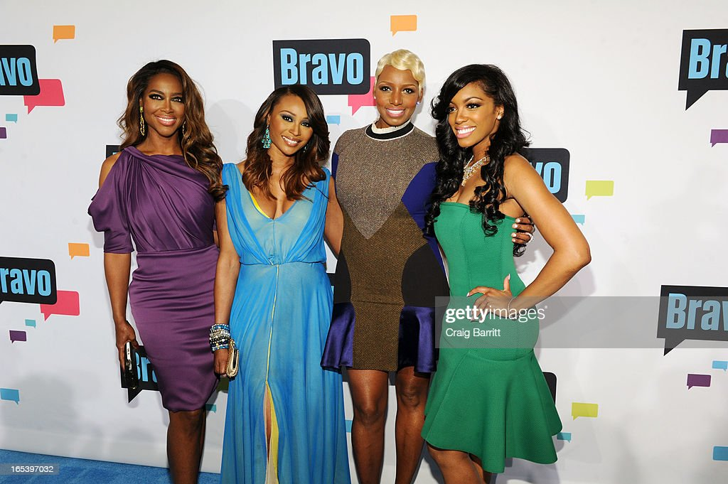 The cast of The Real Housewives of Atlanta attend the 2013 Bravo New York Upfront at Pillars 37 Studios on April 3, 2013 in New York City.