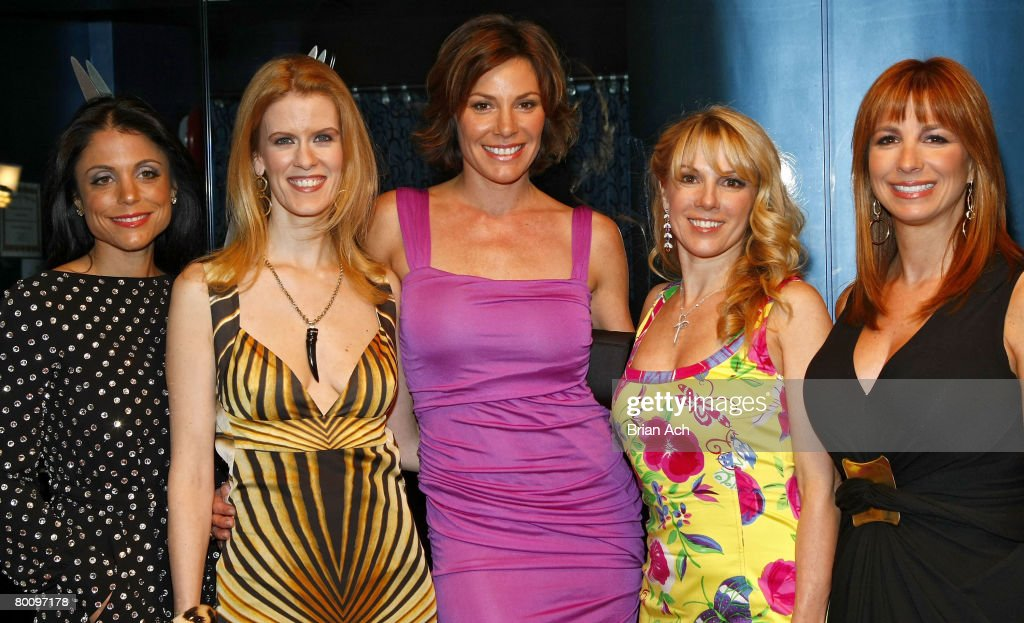 The cast of 'The Real Housewives of New York City' Bethenny Frankel Alex McCord Countess LuAnn de Lesseps Ramona Singer and Jill Zarin at the show's...
