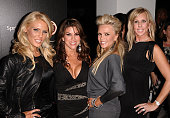 The cast of 'The Real Housewives of Orange County' Gretchen Rossi Lynne Curtin Tamra Barney and Vicki Gunvalson attend TV Guide Magazine's Hot List...