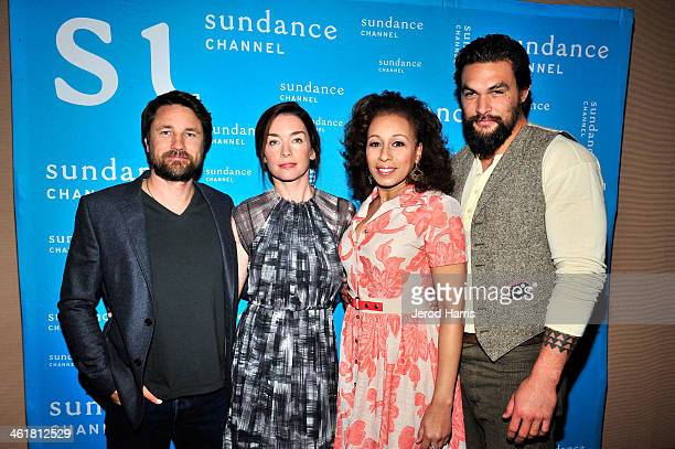 The cast of 'The Red Road' Martin Henderson Julianne Nicholson Tamara Tunie and Jason Momoa attends TCA Presentation of Sundance Channel's 'The Red...