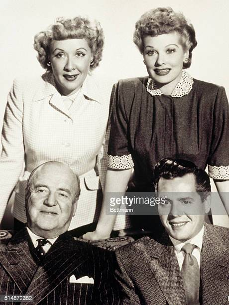 The cast of the sitcom I Love Lucy is Vivian Vance Lucille Ball Desi Arnaz and William Frawley