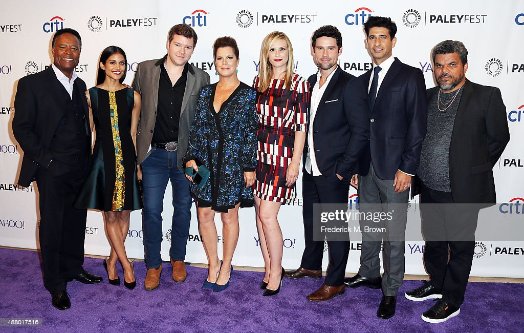 The cast of the television show 'Code Black' William Allen Young Melanie Chandra Harry M Ford Marcia Gay Harden Bonnie Somerville Benjamin...