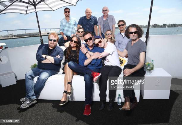 The cast of 'The Tick' on the #IMDboat at San Diego ComicCon 2017 at The IMDb Yacht on July 22 2017 in San Diego California