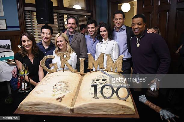 The cast of the TV series Grimm Bree Turner Reggie Lee Claire Coffee Silas Weir Mitchell David Giuntoli Bitsie Tulloch Sasha Roiz and Russell Hornsby...