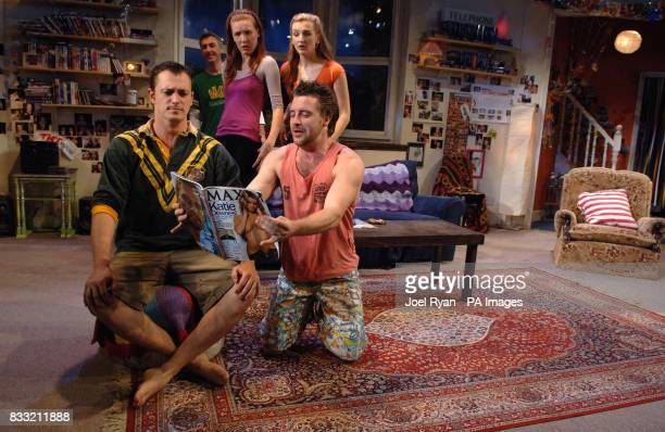 The cast of The Vegemite Tales perform a scene Blair McDonough Andrew Robb Josephine Taylor Jessica Gerger and Jonathon Dutton at the Venue Theatre...