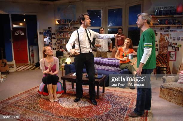 The cast of The Vegemite Tales perform a scene Josephine Taylor Andy Leonard Blair McDonough Jonathon Dutton who plays Eddie Jessica Gerger and...