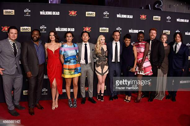 The cast of 'The Walking Dead' Josh McDermitt Chad L Coleman Lauren Cohan Alanna Masterson Steven Yeun Emily Kinney Andrew Lincoln Sonequa...