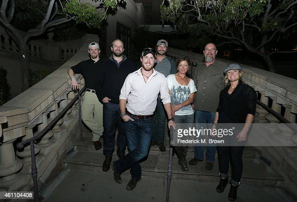 The cast of 'Ultimate Survival Alaska' Dallas Seavey Jared Ogden Grady Powell Daniel Dean Kasha Rigby Brian Catalina and Lel Tone attend the National...