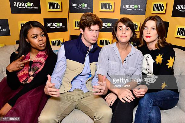 The cast of 'Unexpected' Gail Bean Anders Holm Kris Swanberg and Cobie Smulders attend the IMDb Amazon Instant Video Studio at the village at the...