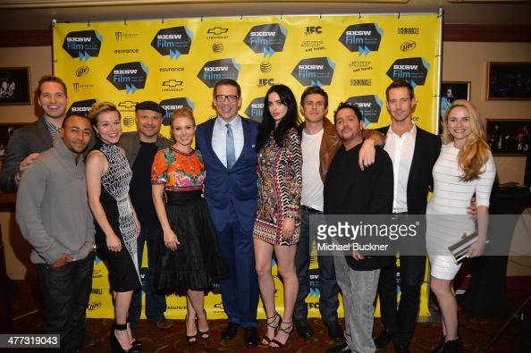 The cast of Veronica Mars attends the premiere of 'Veronica Mars' during the 2014 SXSW Music Film Interactive Festival at the Paramount Theatre on...