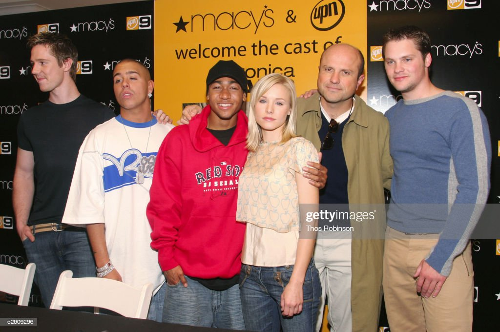 The cast of 'Veronica Mars' Jason Dohring Francis Capra Percy Daggs Kristen Bell Enrico Colantoni and Teddy Dunn appear at Macy's Herald Square on...