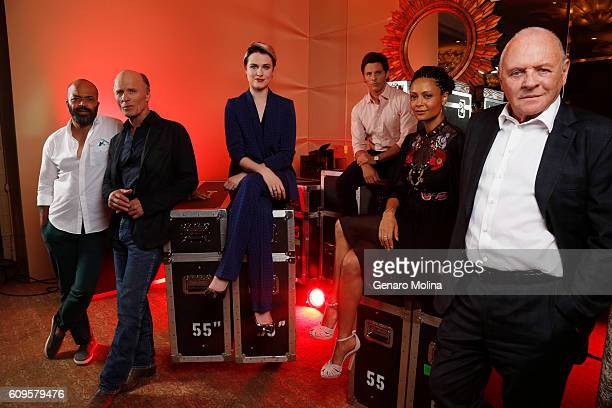 The Cast of 'Westward' Anthony Hopkins James Marsden Ed Harris Evan Rachel Wood Jeffrey Wright Jonathan Nolan Lisa Joy and Thandie Newton are...