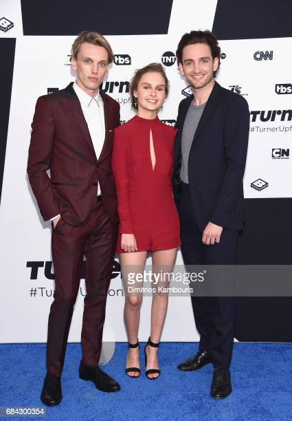The cast of 'Will' Jamie Campbell Bower Olivia DeJonge and Laurie Davidson attend the Turner Upfront 2017 arrivals on the red carpet at The Theater...