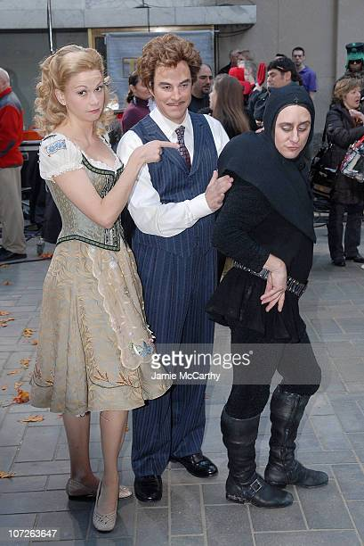 The Cast Of 'Young Frankenstein' Sutton Foster Roger Bart and Christopher Fitzgerald on the Halloween Edition of NBC's 'Today' Show Halloween Monster...