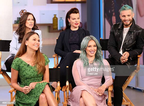 AMERICA The Cast of 'Younger' appear on 'Good Morning America' 3/30/15 airing on the ABC Television Network
