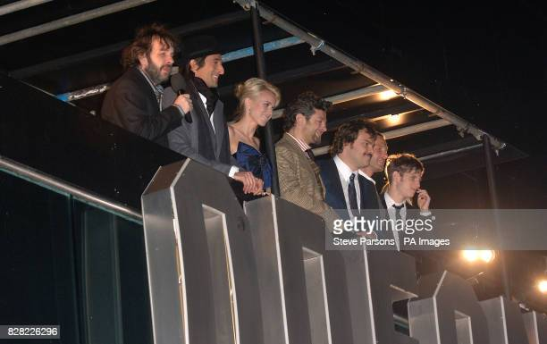 The cast Peter Jackson Adrien Brody Naomi Watts Andy Serkis Jack Black and Jamie Bell arrive for the UK film premiere of 'King Kong' at the Odeon...