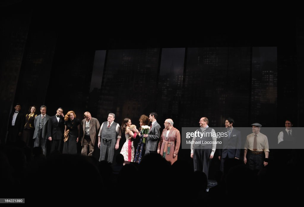 The cast takes part in the 'Breakfast At Tiffany's' Broadway Opening Night at Cort Theatre on March 20, 2013 in New York City.