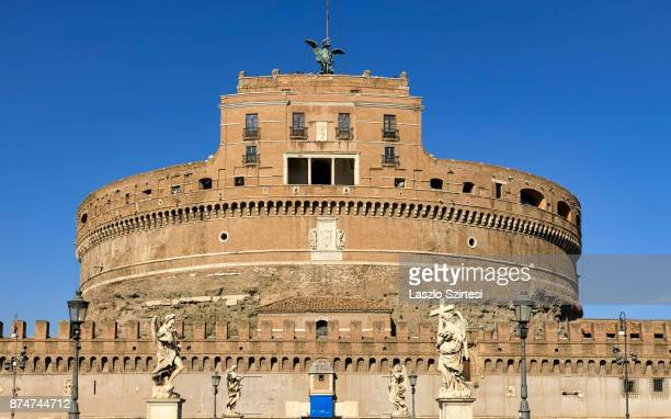The Castel Sant'Angelo is seen at the Ponte Sant'Angelo bridge on November 1 2017 in Rome Italy Rome is one of the most popular tourist destinations...