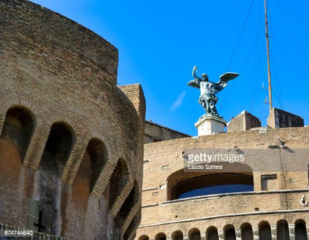 The Castel Sant'Angelo is seen on November 1 2017 in Rome Italy Rome is one of the most popular tourist destinations in the World