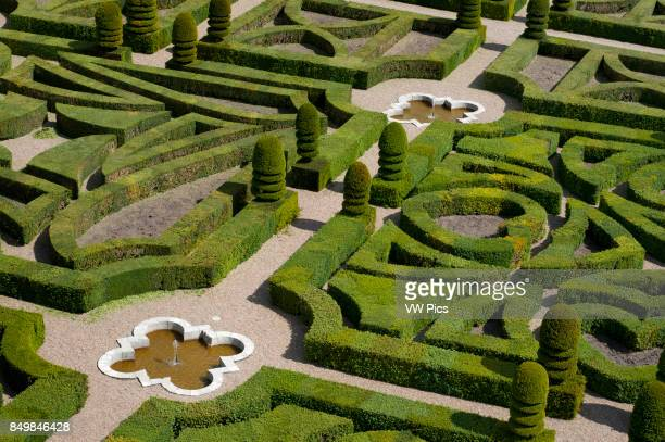 The castle and the gardens of Villandry Loire Valley France The beautiful castle and gardens at Villandry UNESCO World Heritage Site Indre et Loire...