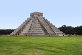 step-pyramid named El Castillo in Chichen the Itza archaeological site in Yucatan, Mexico