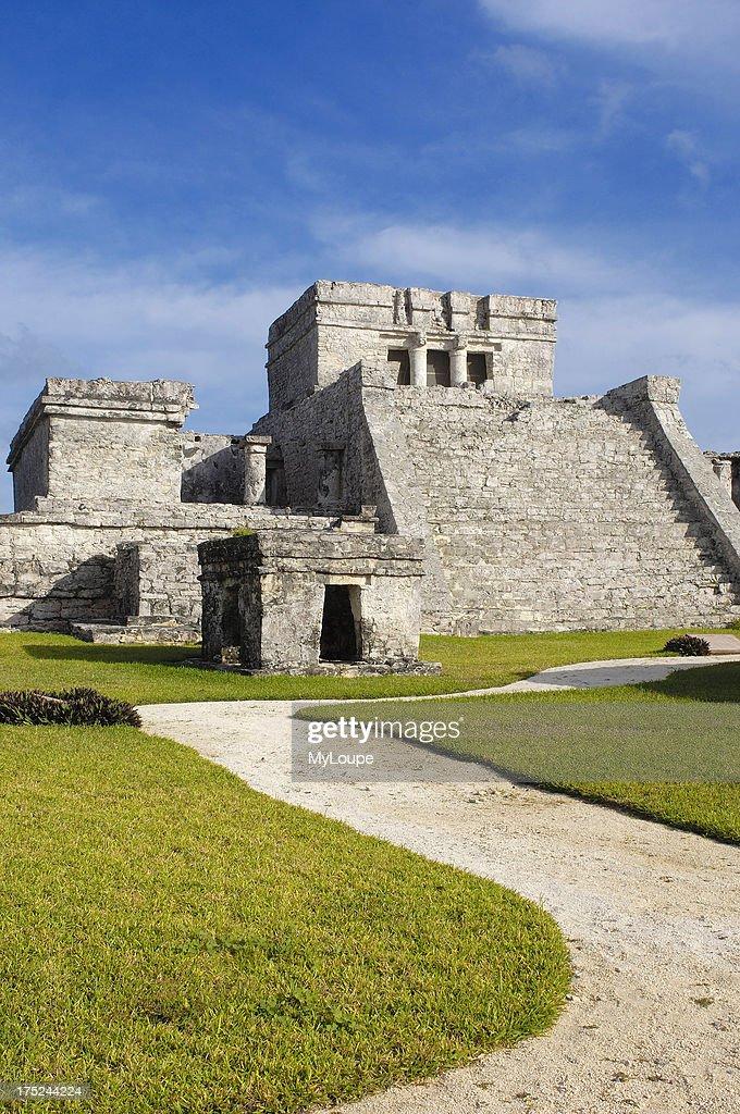 The castle Mayan ruins of Tulum Tulum Quintana Roo state Mayan Riviera Yucatan Peninsula Mexico