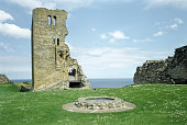 The castle well in the inner bailey Scarborough Castle North Yorkshire 1989 The 12th century keep of Scarborough Castle still stands over 3 storeys...
